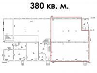 аренда 380 кв.м., планировка