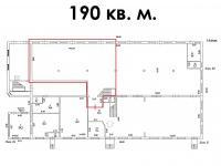 аренда 190 кв.м., планировка