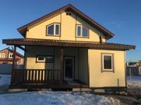 Дом на Киевском Калужском  шоссе, 75 км от МКАД в деревне  у озера и реки.