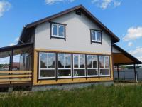 Дом с панорамными окнами ,гаражом ,маг.  газом Киевское Минское шоссе