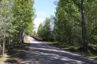 подъезд к посёлку с Приморского шоссе