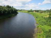 12 соток  в деревне  на высоком берегу реки. Дмитровское ш. Район- Талдомский.